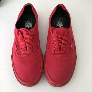 Mens Vans 11.5 Shoes Red Color. Gently Used.
